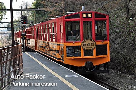 嵐山のトロッコ列車