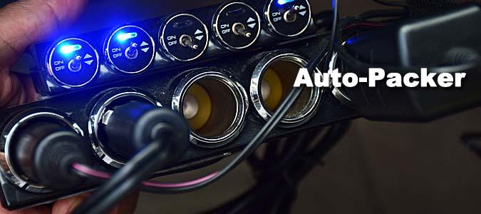 シガーソケットコンセント&車載用インバータで、スマホを充電