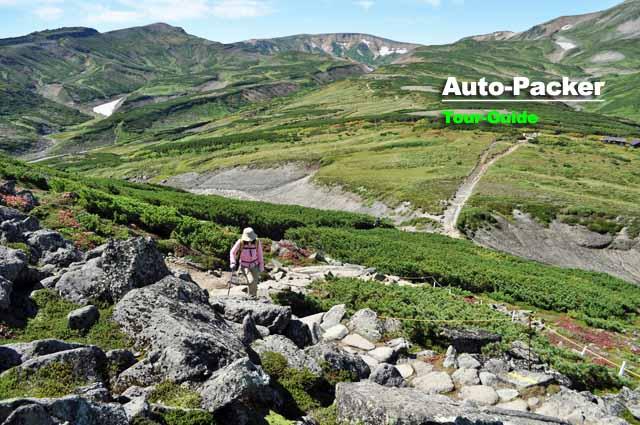 層雲峡からアクセスする大雪山の黒岳。写真は山頂付近だが、ここは登山に近い体力が必要。