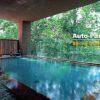 ホテル甘露の森は、抜群の美肌効果を誇る「森の天空露天風呂」