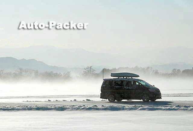 吹雪のドライブ