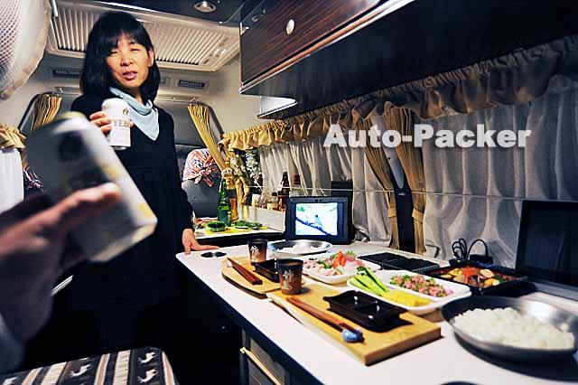 車中泊で手巻寿司