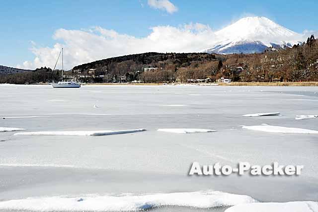 山中湖 結氷