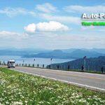 美幌峠は北海道屈指とも呼ばれる絶景スポット。正面に広がるのは屈斜路湖。