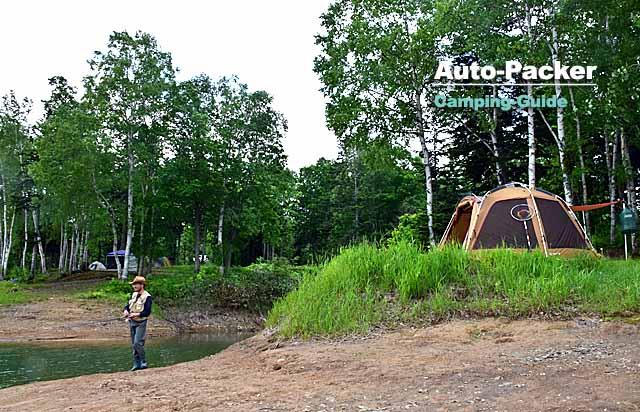 北海道にはキャンプサイトで釣りのできるフィールドも多い。