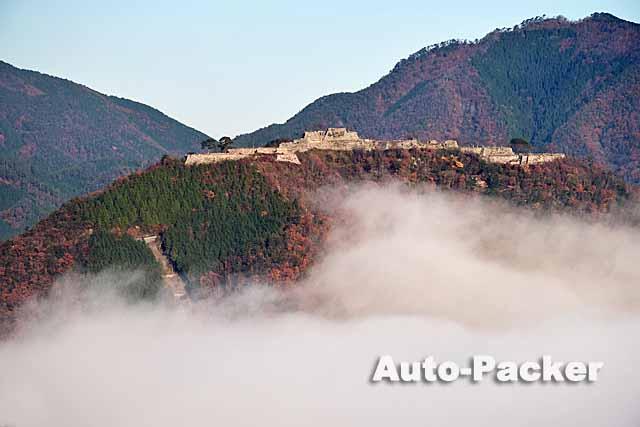 立雲峡から見る竹田城跡