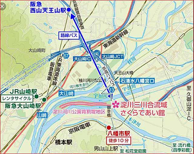 背割堤サイクリングマップ