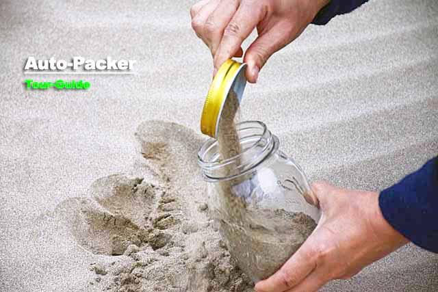 稲佐の浜 砂拾い